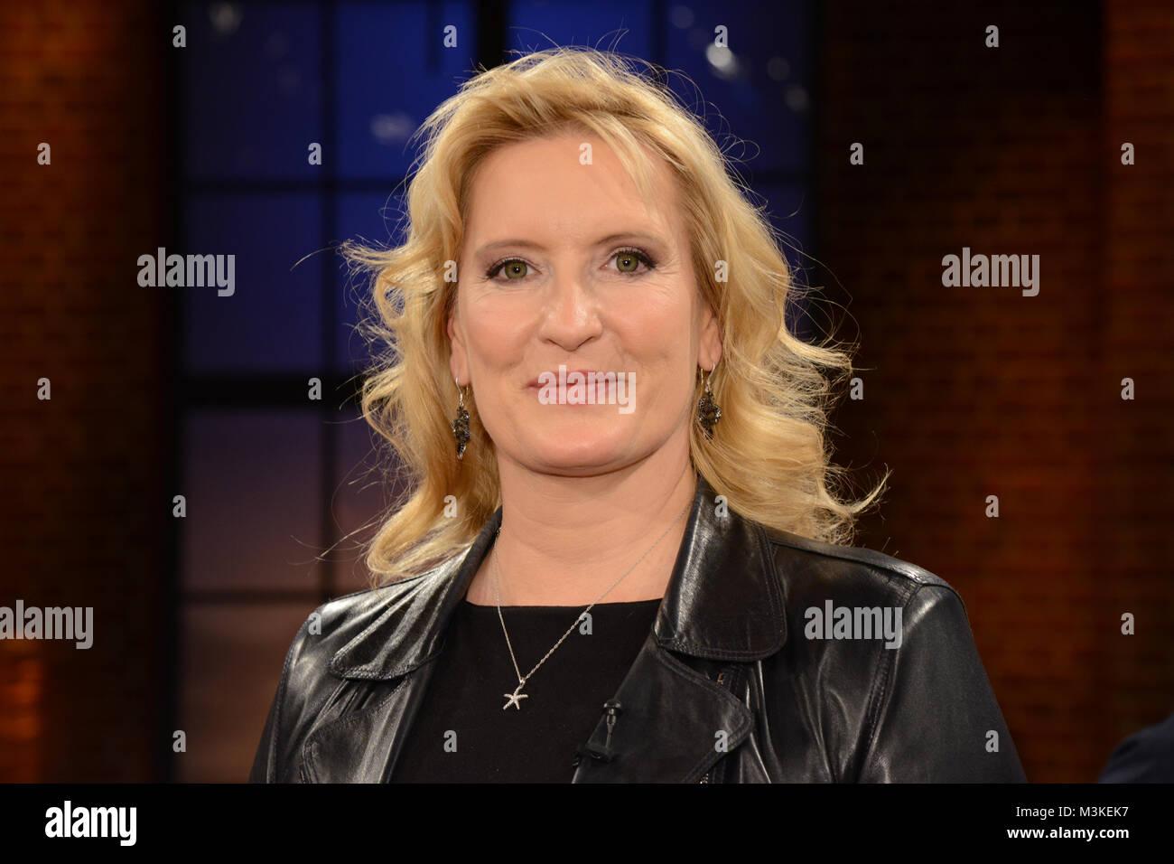 Claudia Kleinert die Wetterfrau im der ARD im deutschen Fernsehen im Portraet als Gast bei der Folge 397 der WDR - Stock Image