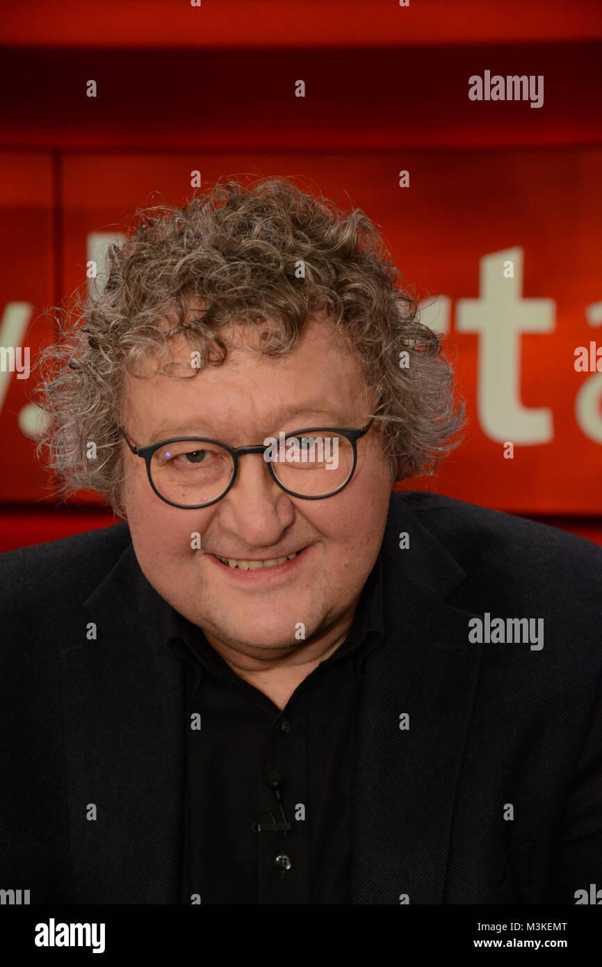 Werner Patzelt der Politikwissenschaftler und Professor als Gast in der wšchentlichen ARD Talkshow Hart aber Fair - Stock Image