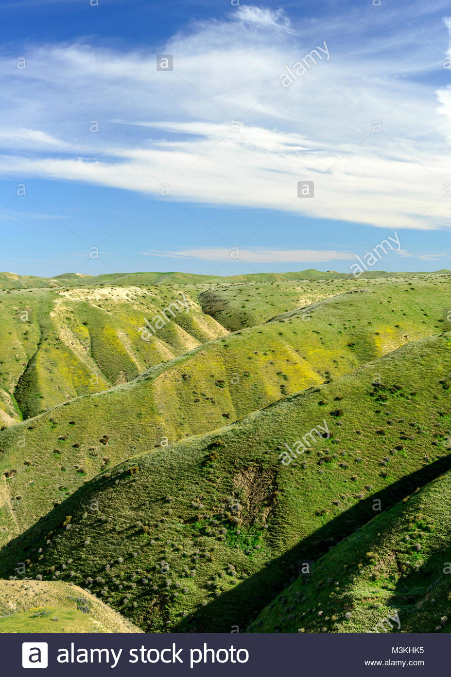 Panoche Hills Wilderness Study Area in Spring, Fresno County, California - Stock Image