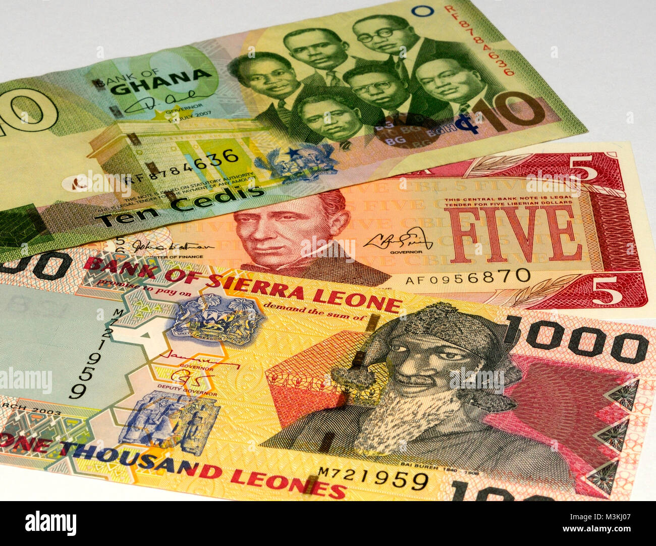 West Africa Currency Bank Notes - Stock Image