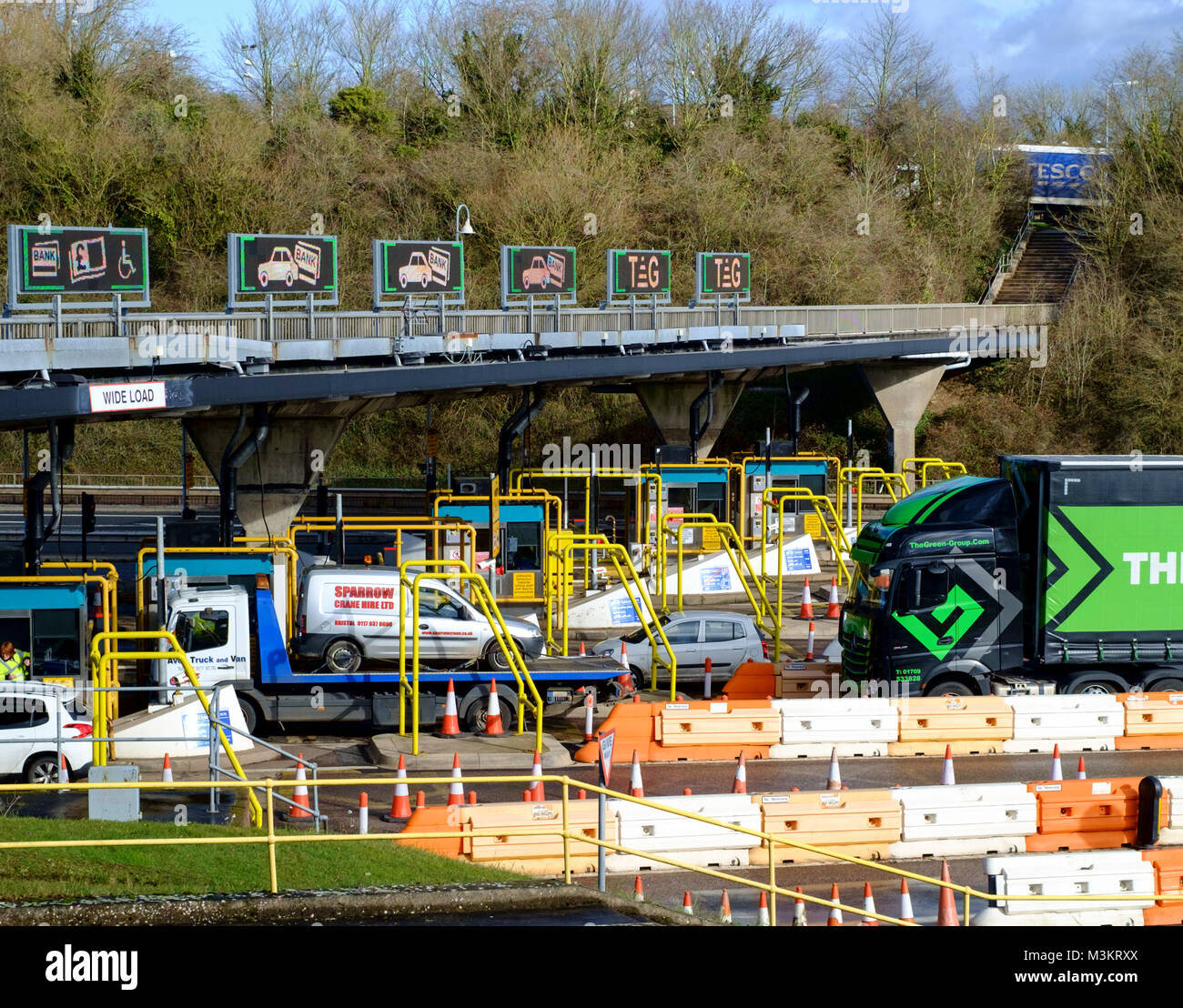 The M48 severn bridge tolls - Stock Image