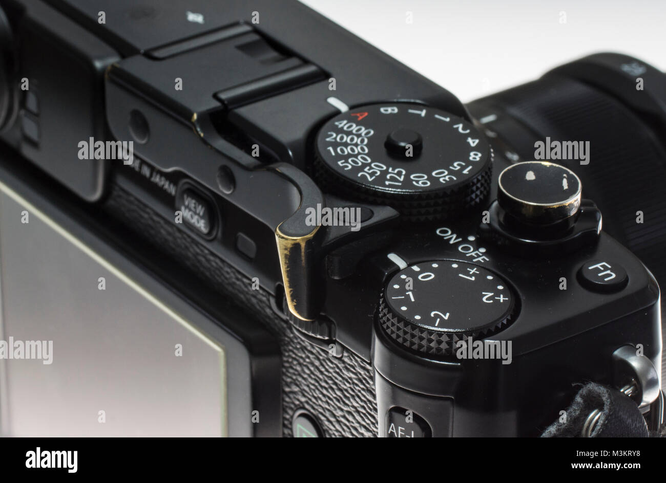 A cusomised fujifilm X Pro-1 digital camera - Stock Image