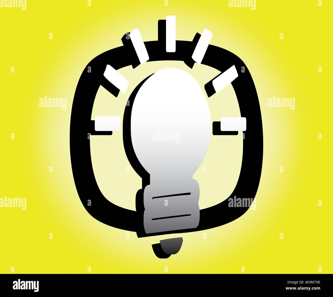 Idea with lighted bulb icon - vector - Stock Vector