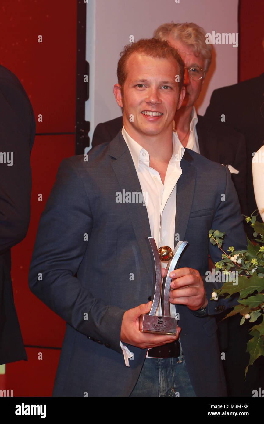 Fabian Hambuechen, Sport Bild Award in der Fischauktionshalle, Hamburg, 29.08.2016 - Stock Image