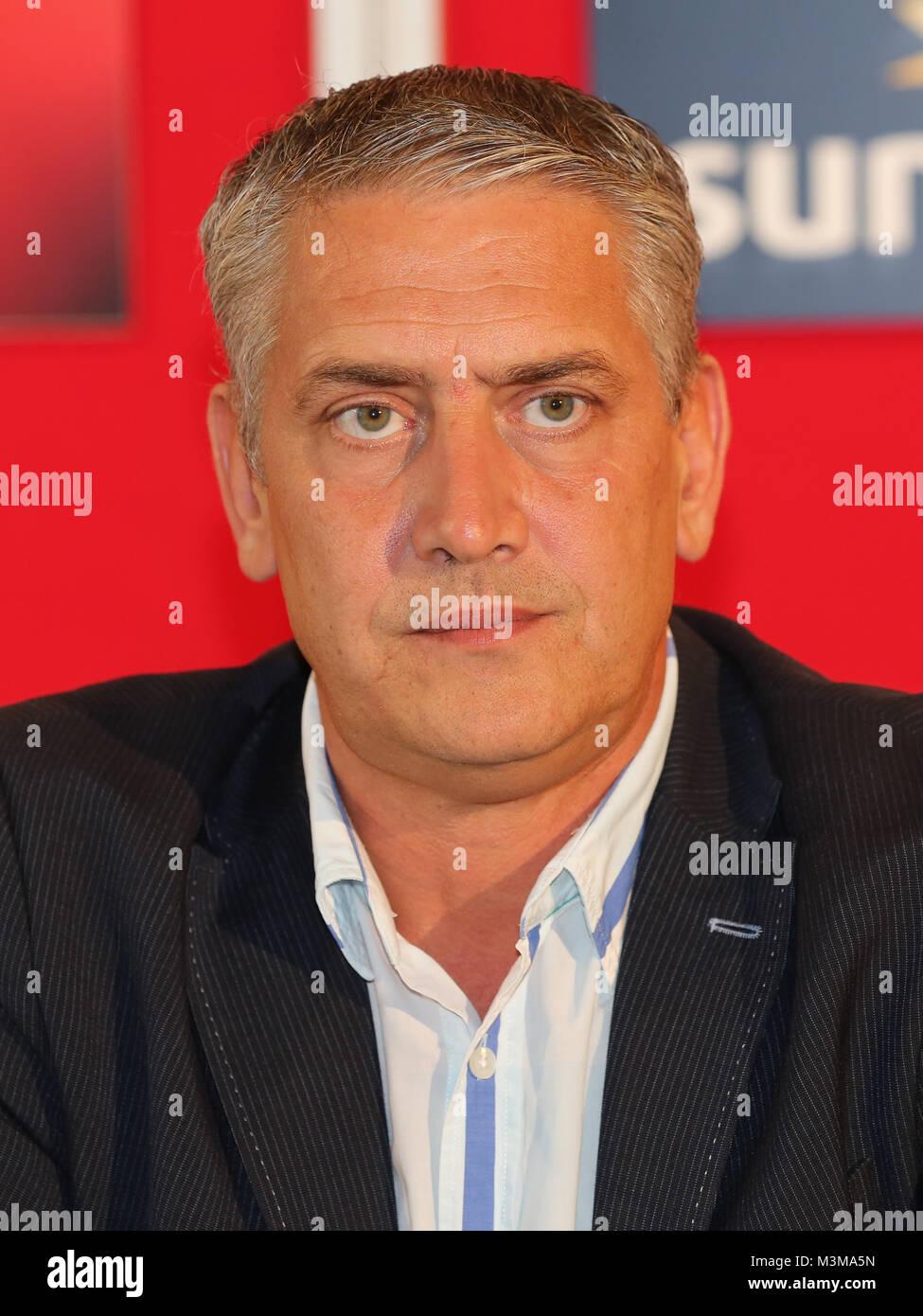 Box-Promoter Ulf Steinforth (SES Boxing) während der Pressekonferenz zum Europameisterschaftskampf am 12.11.2016 - Stock Image