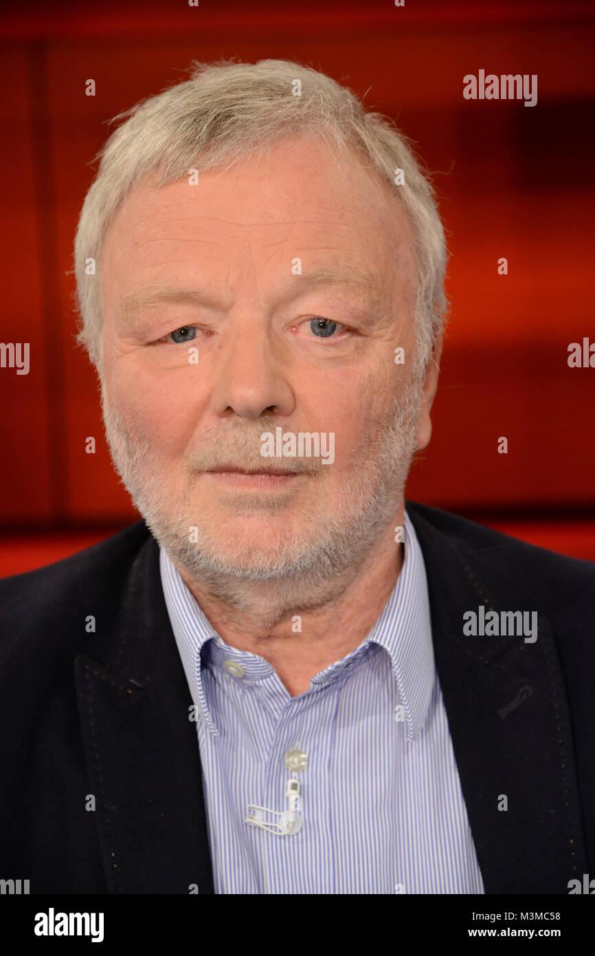 Michael Juergs der Journalist und Buchautor im Portraet als Gast bei der ARD Talkshow Hart aber Fair am Montag 10.10.2016 - Stock Image