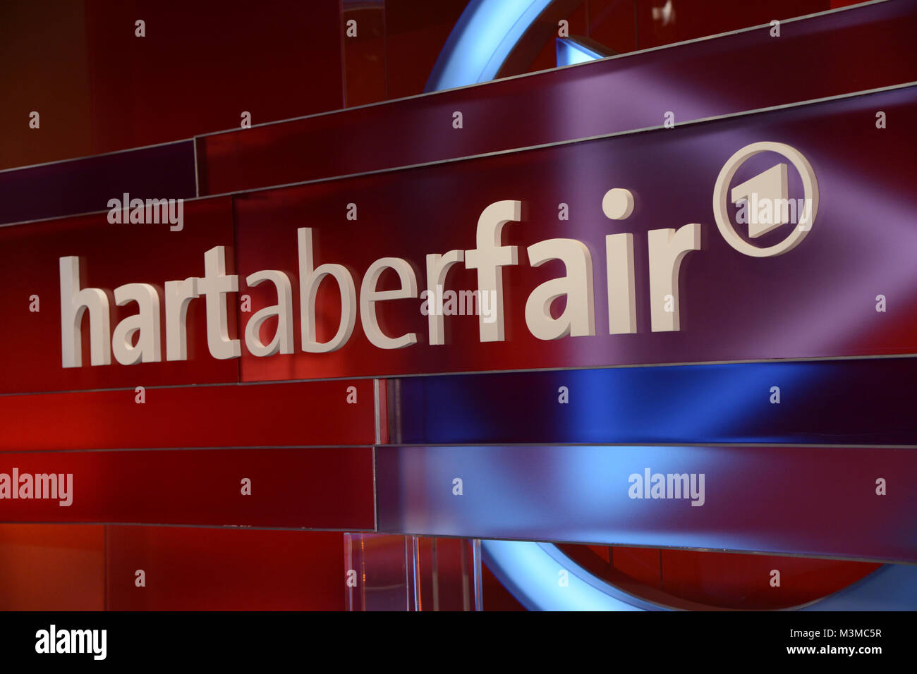 Symbolbild, Logo Bild , Logobild ARD Talkshow Hart aber Fair mit Frank Plassberg am Montag - Stock Image
