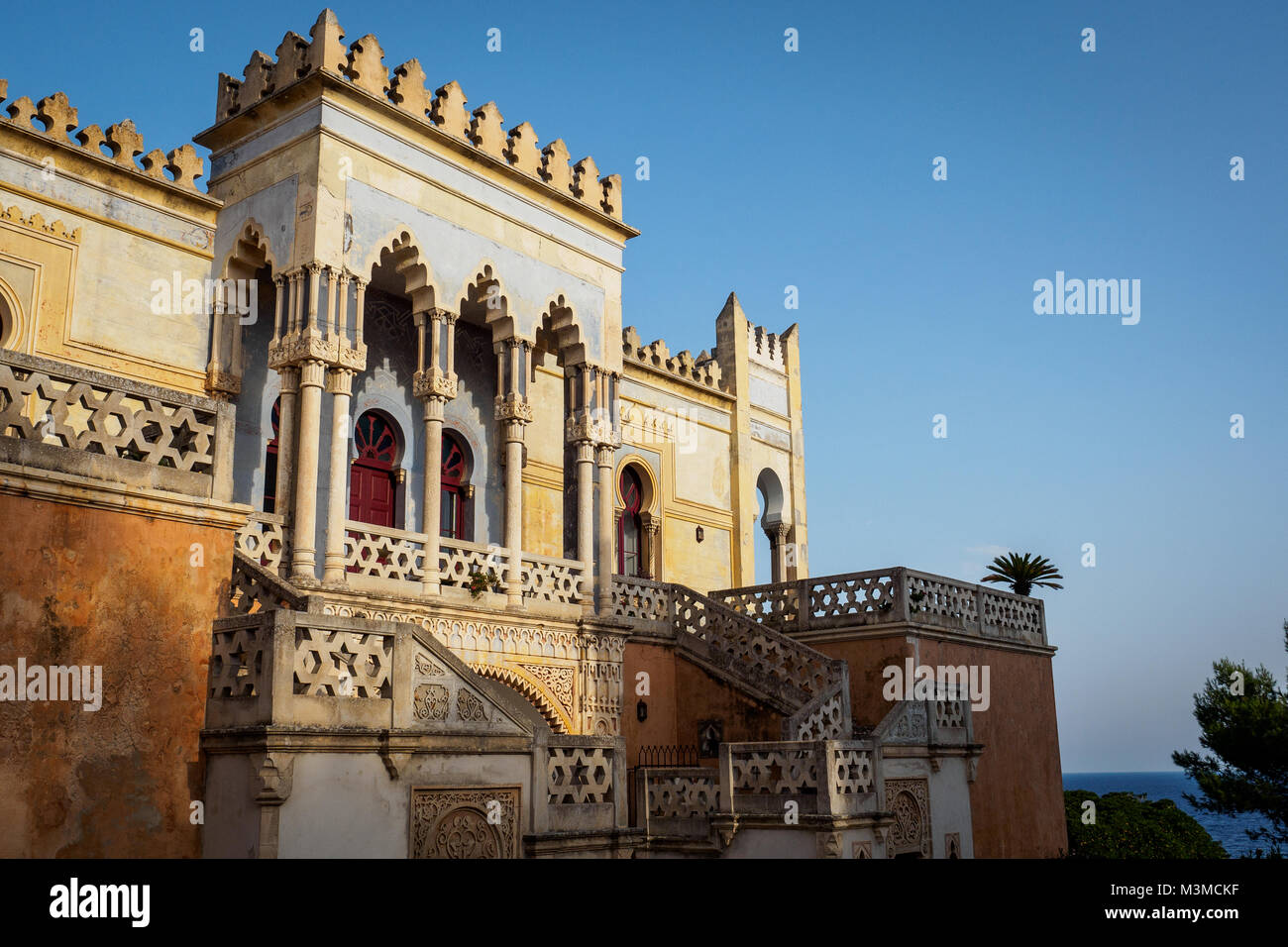 Santa Cesarea Terme (Italy), August 2017. Villa Sticchi, one of the best example of Moorish architectural style - Stock Image