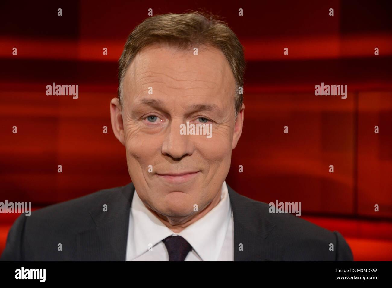 Thomas Oppermann, der Franktionsvorsitzende der SPD im PortrŠt als Gast in der wšchentlichen ARD Talkshow Hart aber - Stock Image