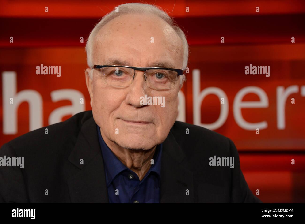 Fritz Pleitgen Journalist und ehemaliger WDR Intendant im PortrŠt als Gast in der wšchentlichen ARD Talkshow Hart - Stock Image