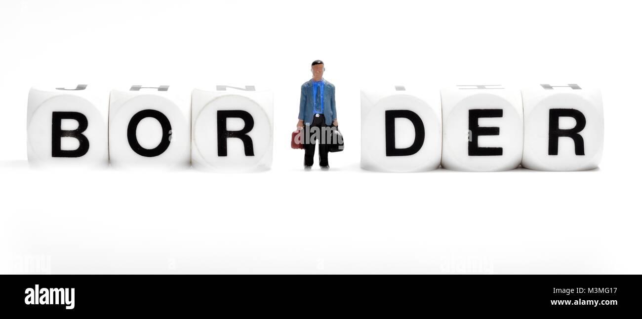 Border control concept - Stock Image