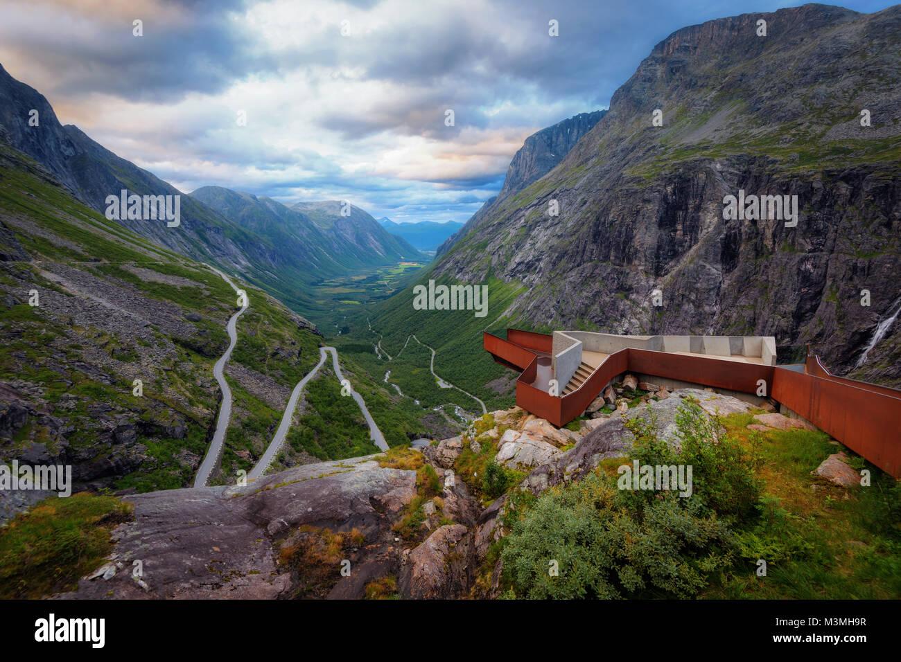 Trollstigen Norway taken in 2017 - Stock Image