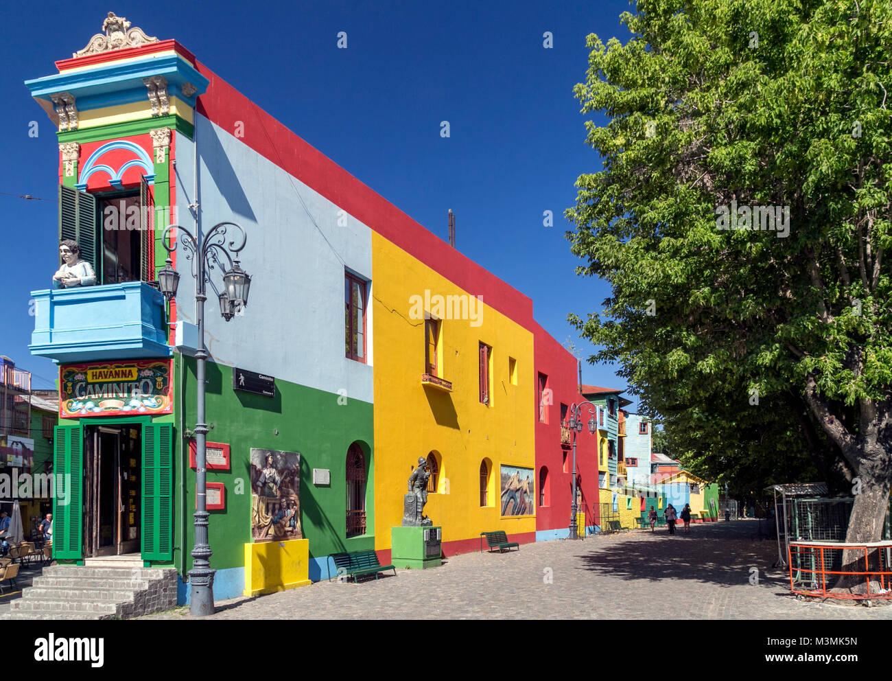 Caminito, La Boca. Buenos Aires, Argentina - Stock Image