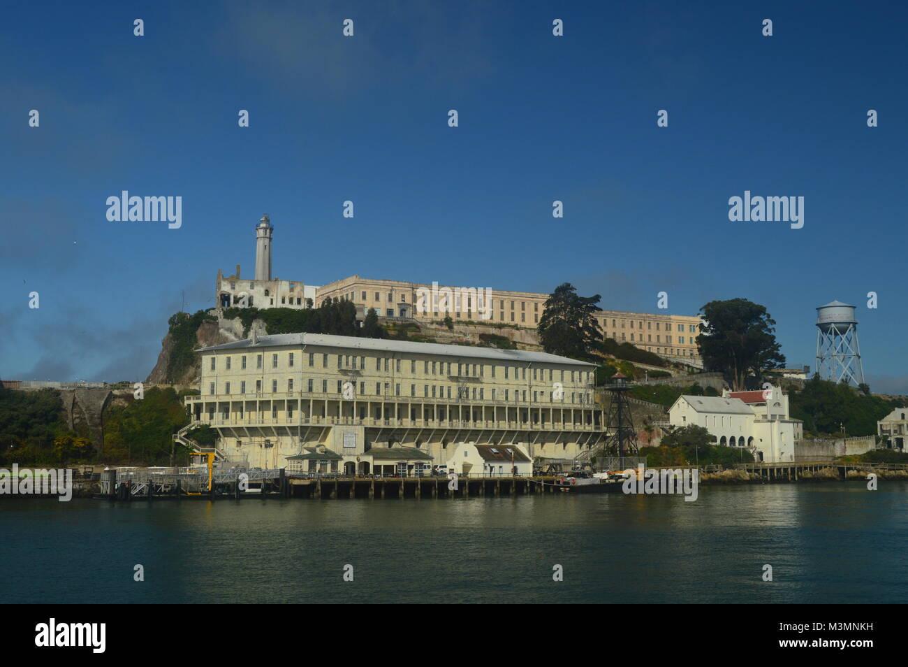 Views Of Alcatraz Island From The Sea. Travel Holidays Architecture June 30, 2017. San Francisco. California USA Stock Photo