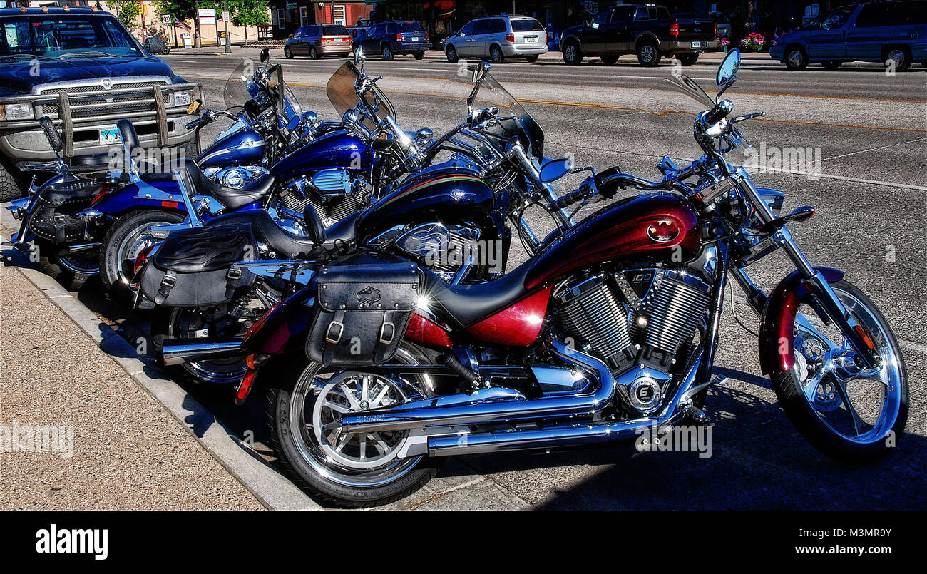 Motorbike Gang in the West taken in 2015 - Stock Image