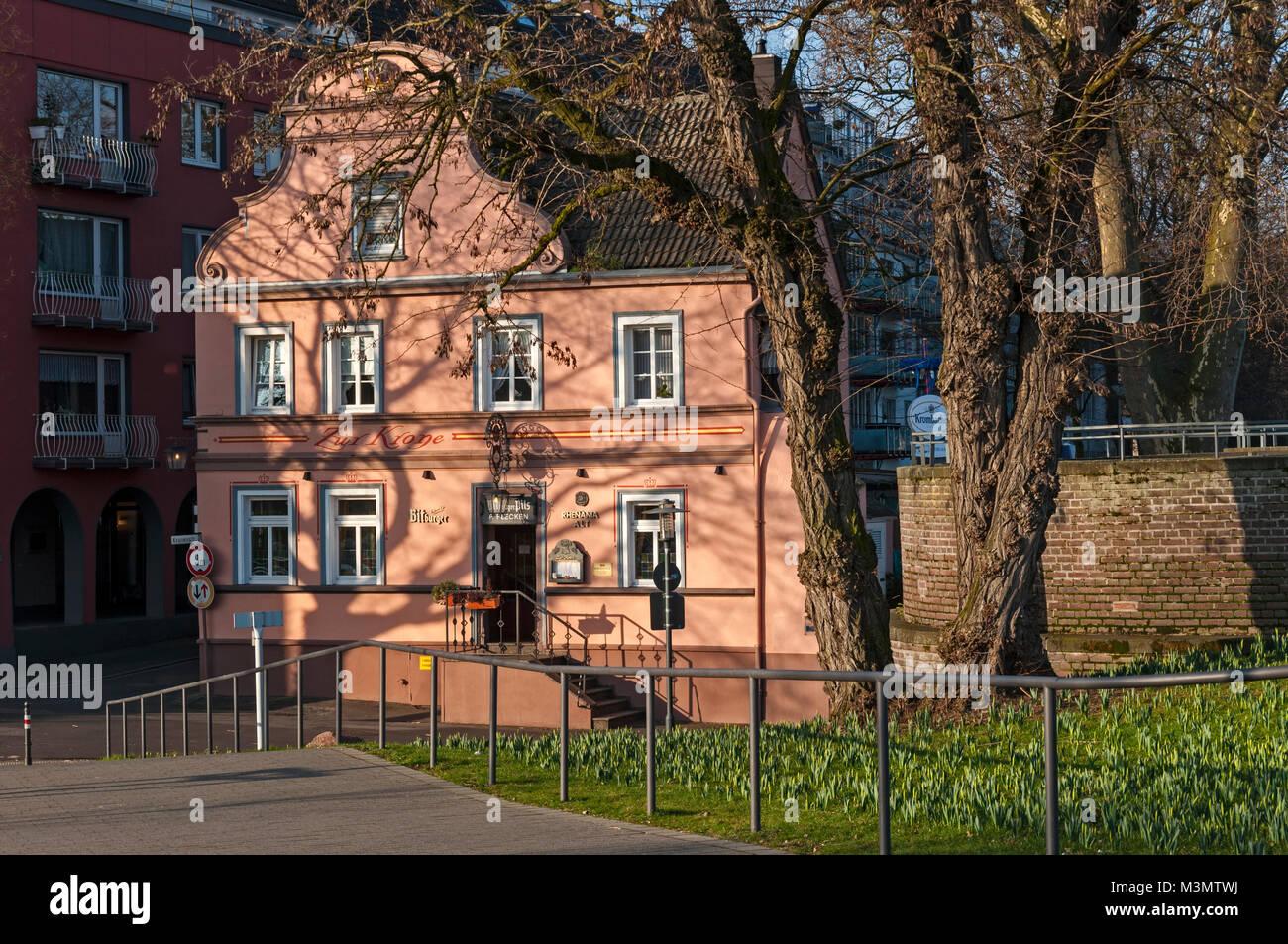 Tavern 'Zur Krone', Krefeld Uerdingen, NRW Germany - Stock Image