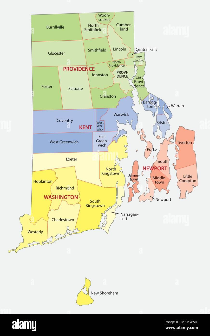 Rhode Island Map Stock Photos Rhode Island Map Stock Images Alamy