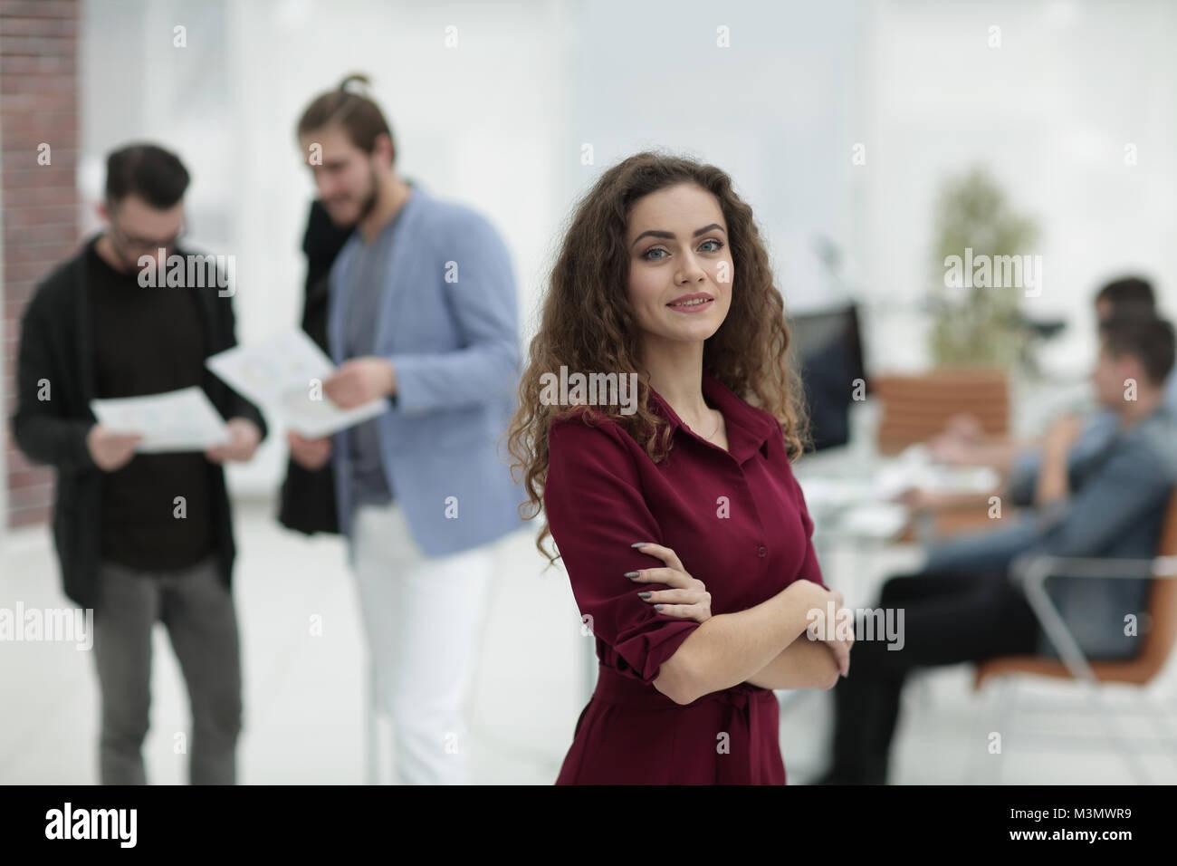 fashion designer standing in a creative Studio.p - Stock Image