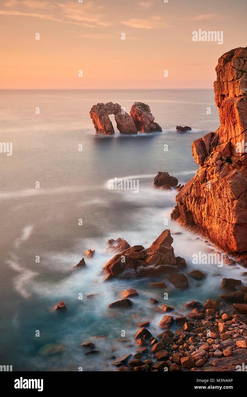 The Broken Coast. Nature park of Liencres. - Stock Image