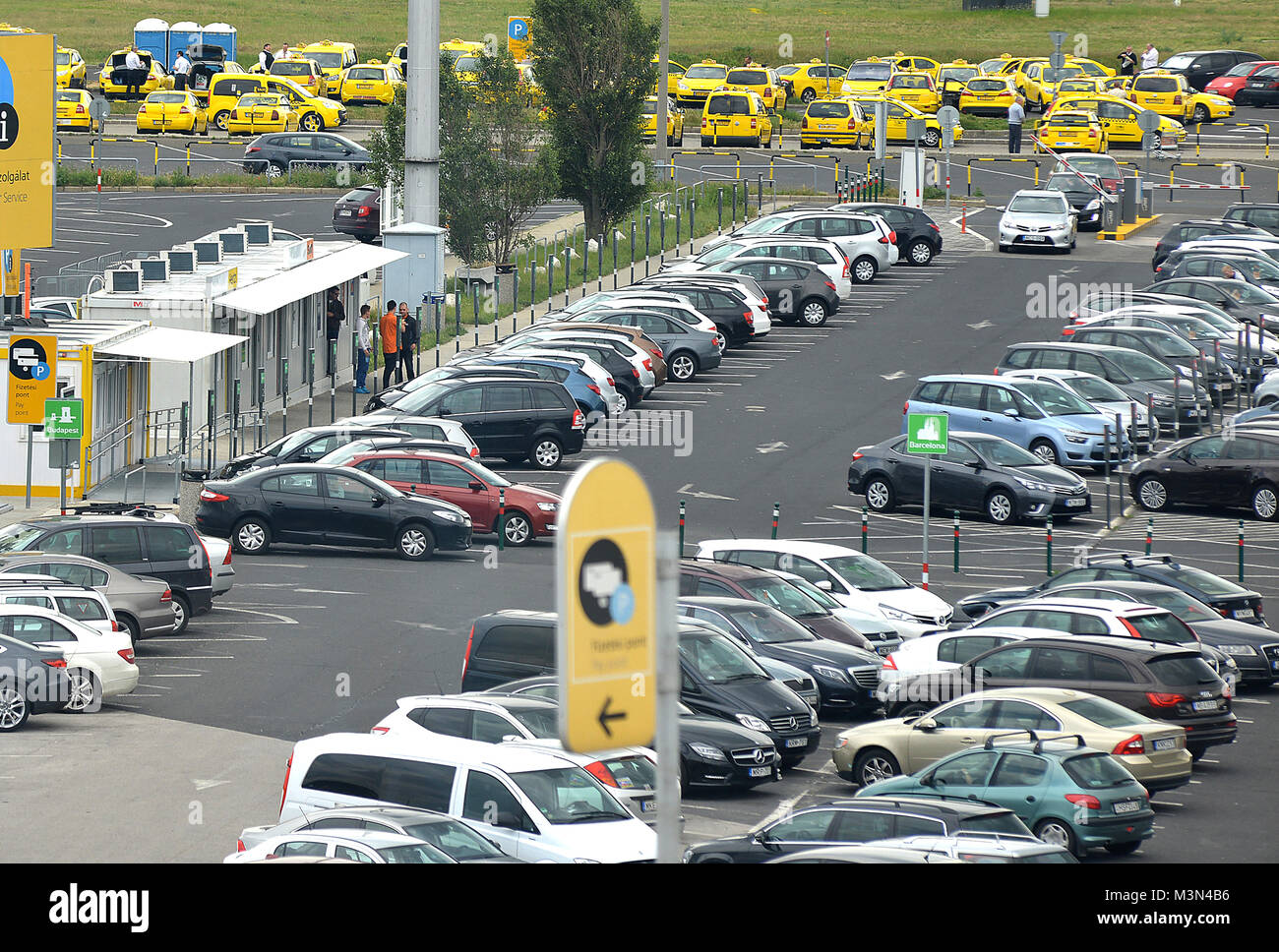 Airport parking stock photos airport parking stock images alamy parking ferenc listz international airport budapest hungary stock image kristyandbryce Image collections
