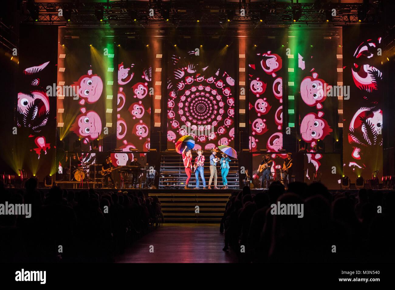 Das Musical 'Bibi & Tina - Die große Show' begeisterte am Mittwoch (18.01.2017) zahlreiche junge - Stock Image
