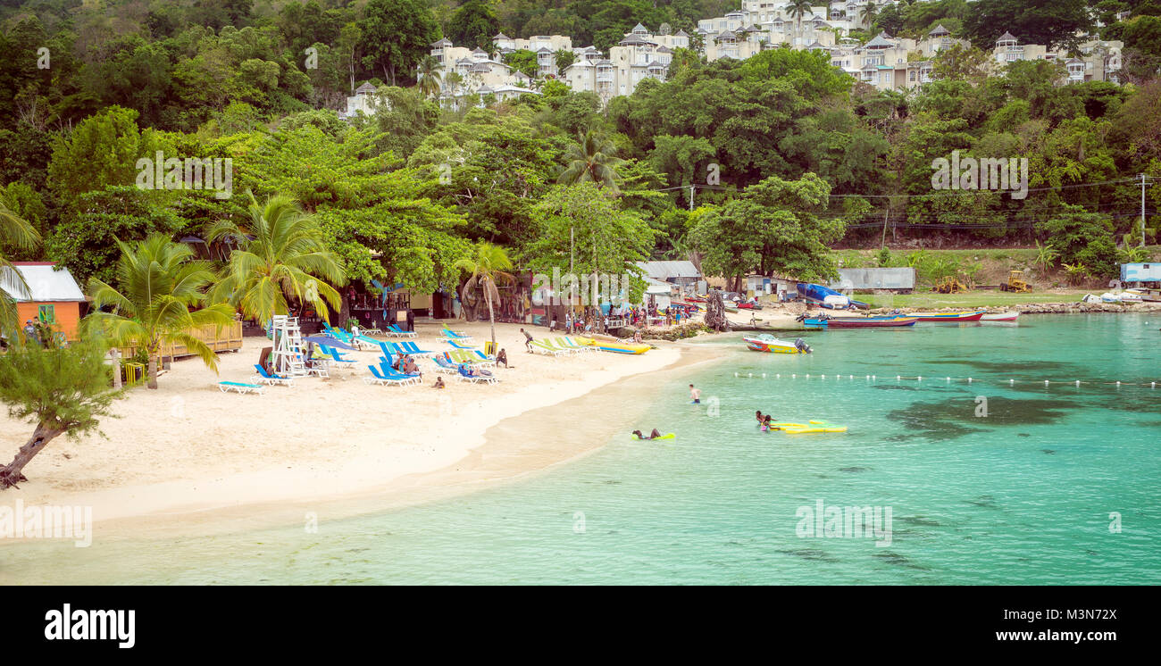 Paradise beach in Ocho Rios, Jamaica - Stock Image