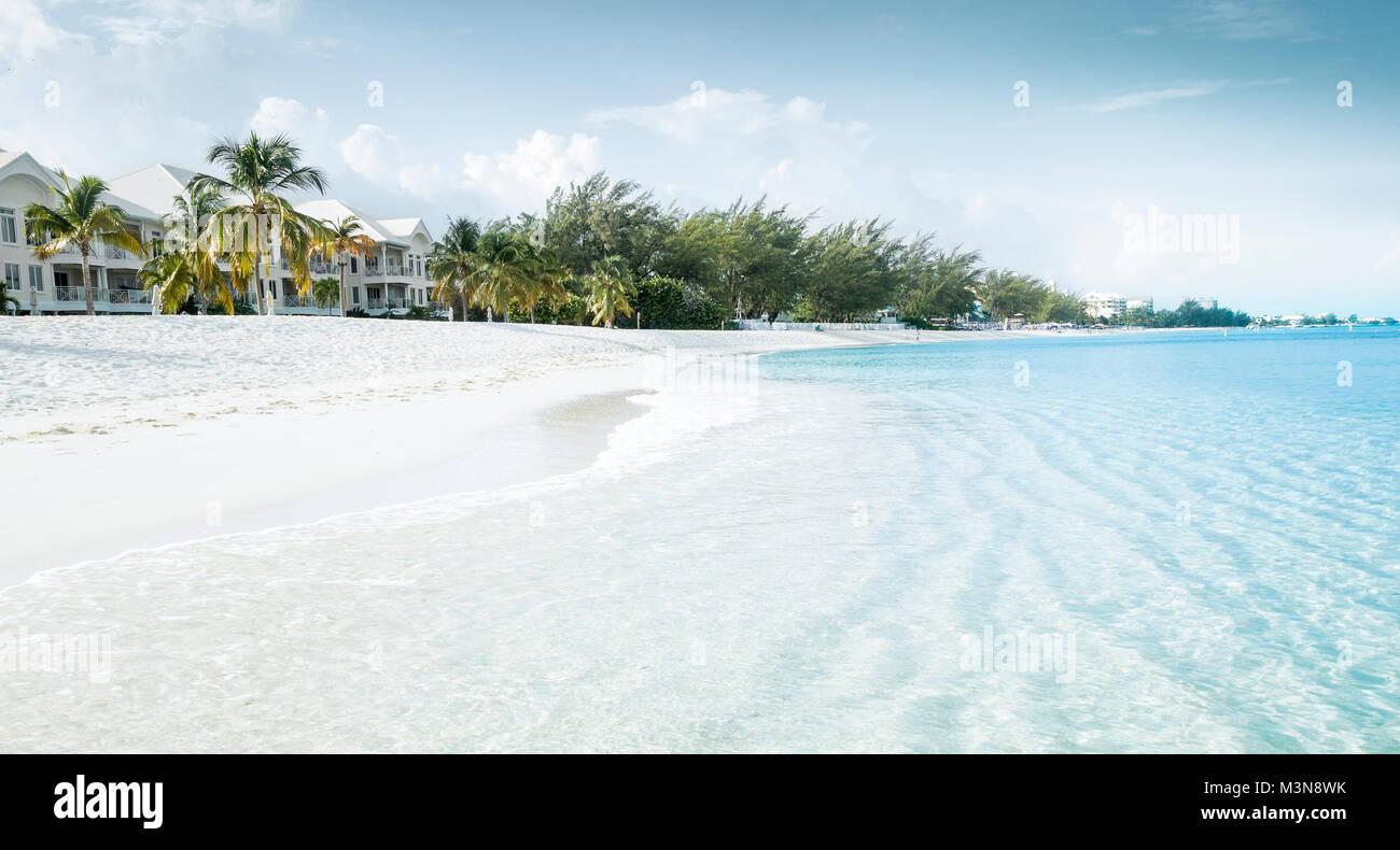 Beautiful beach on a tropical island - Stock Image