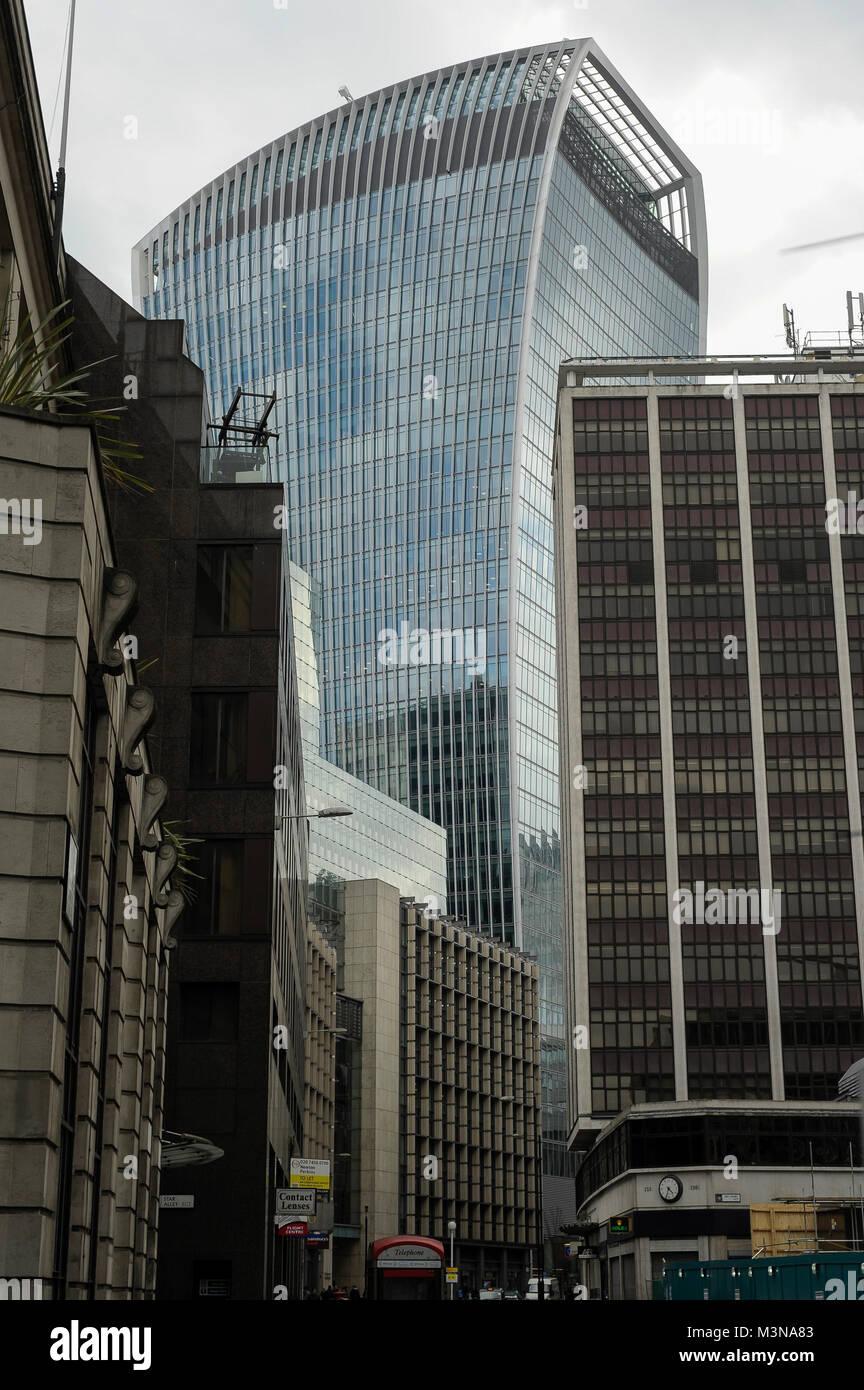 160 meter office skyscraper 20 Fenchurch Street 2009 2014 proj Rafael Vinoly in City of London, London, England, Stock Photo