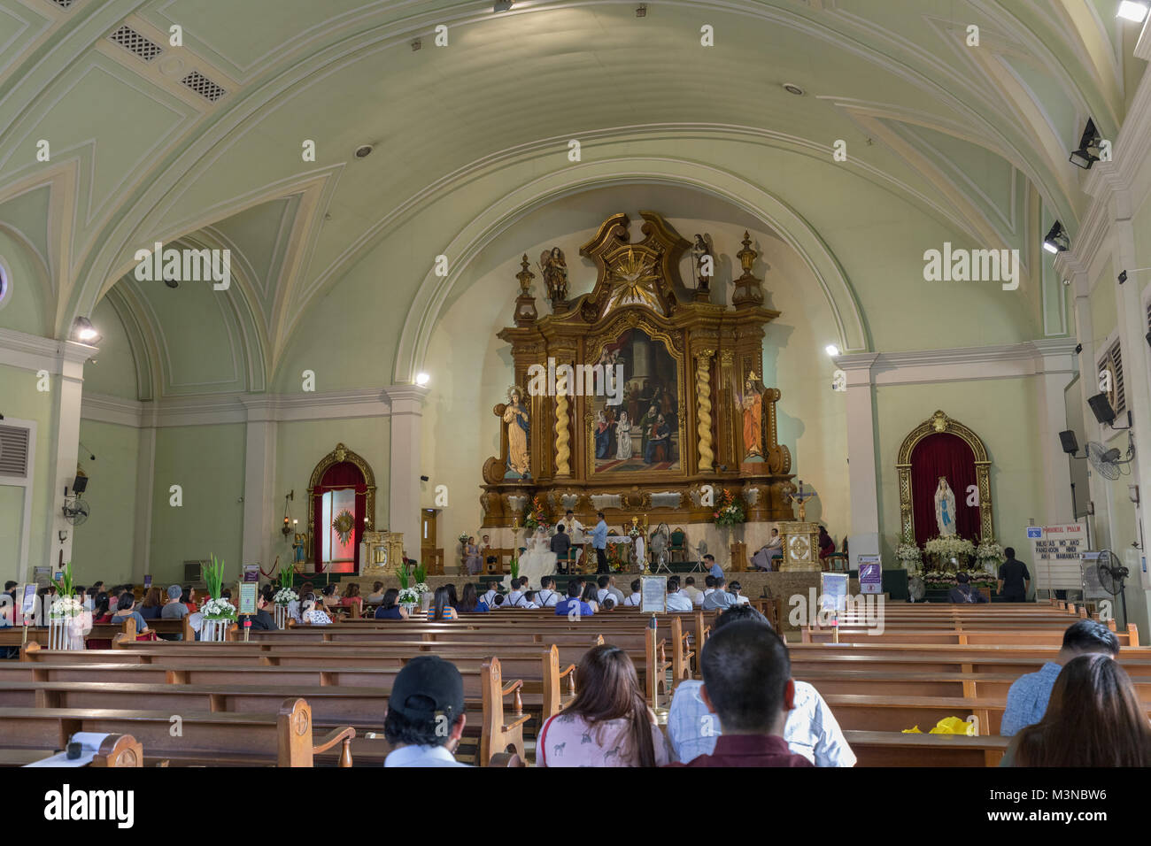 Manila, Philippines - Feb 10, 2018 : Interior view of Catholic churches beside in the Mall of Asia shopping mall - Stock Image