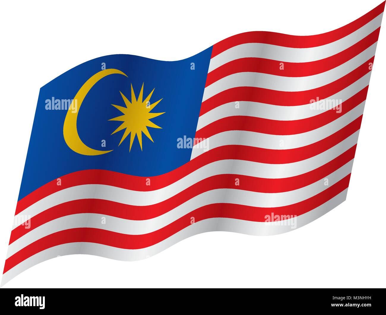 malaysia flag vector illustration stock vector art illustration rh alamy com flag vector free download