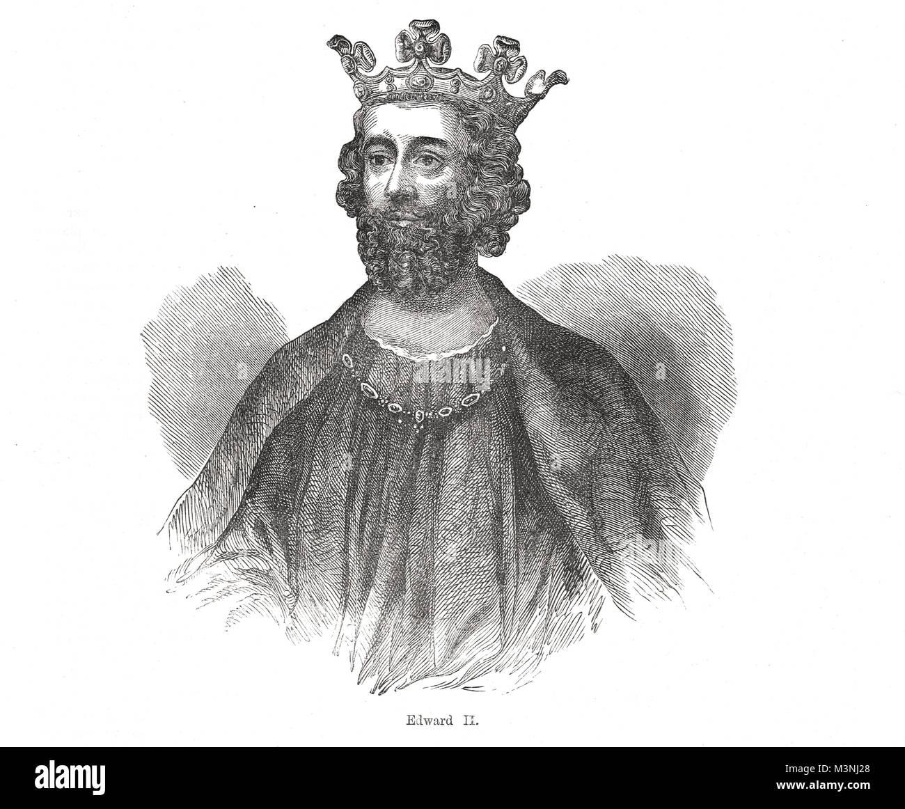 King Edward II of England, 1284-1327, reigned 1307-1327 - Stock Image