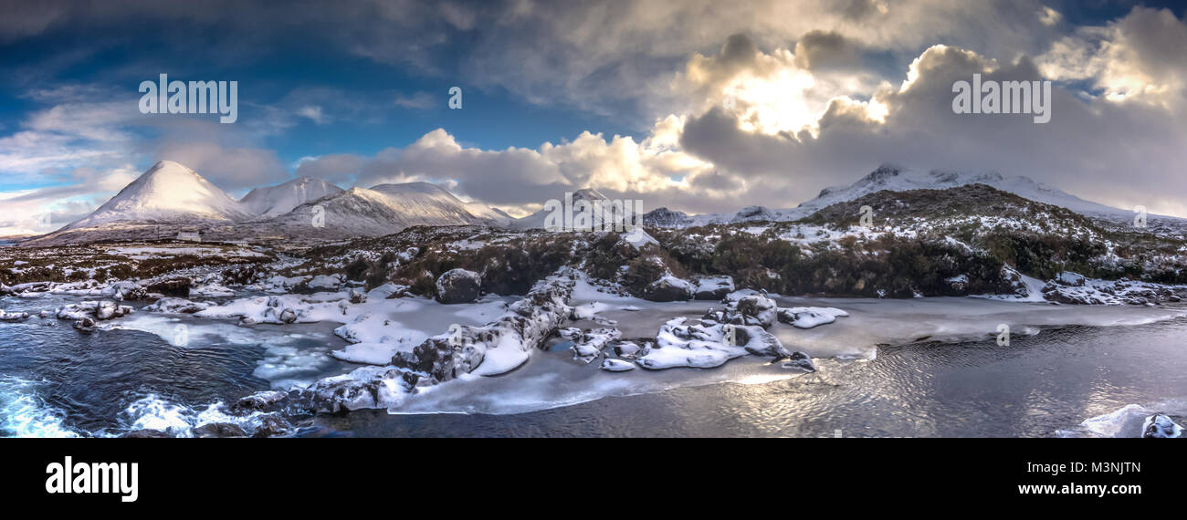The Cuillin Mountains in Winter - Stock Image