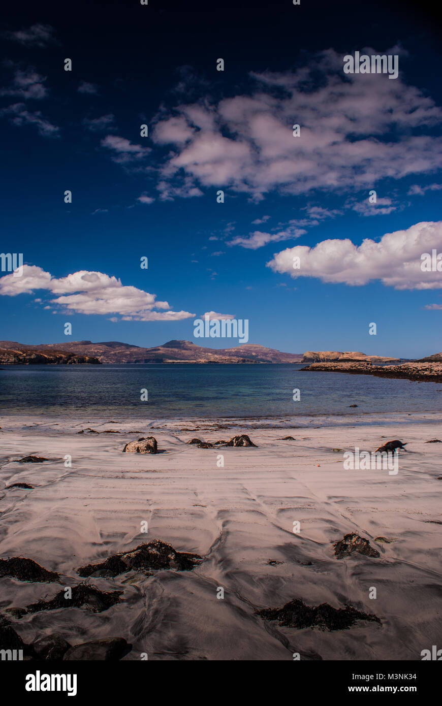 Macleod's Tables from Oronsay Tidal Beach - Stock Image