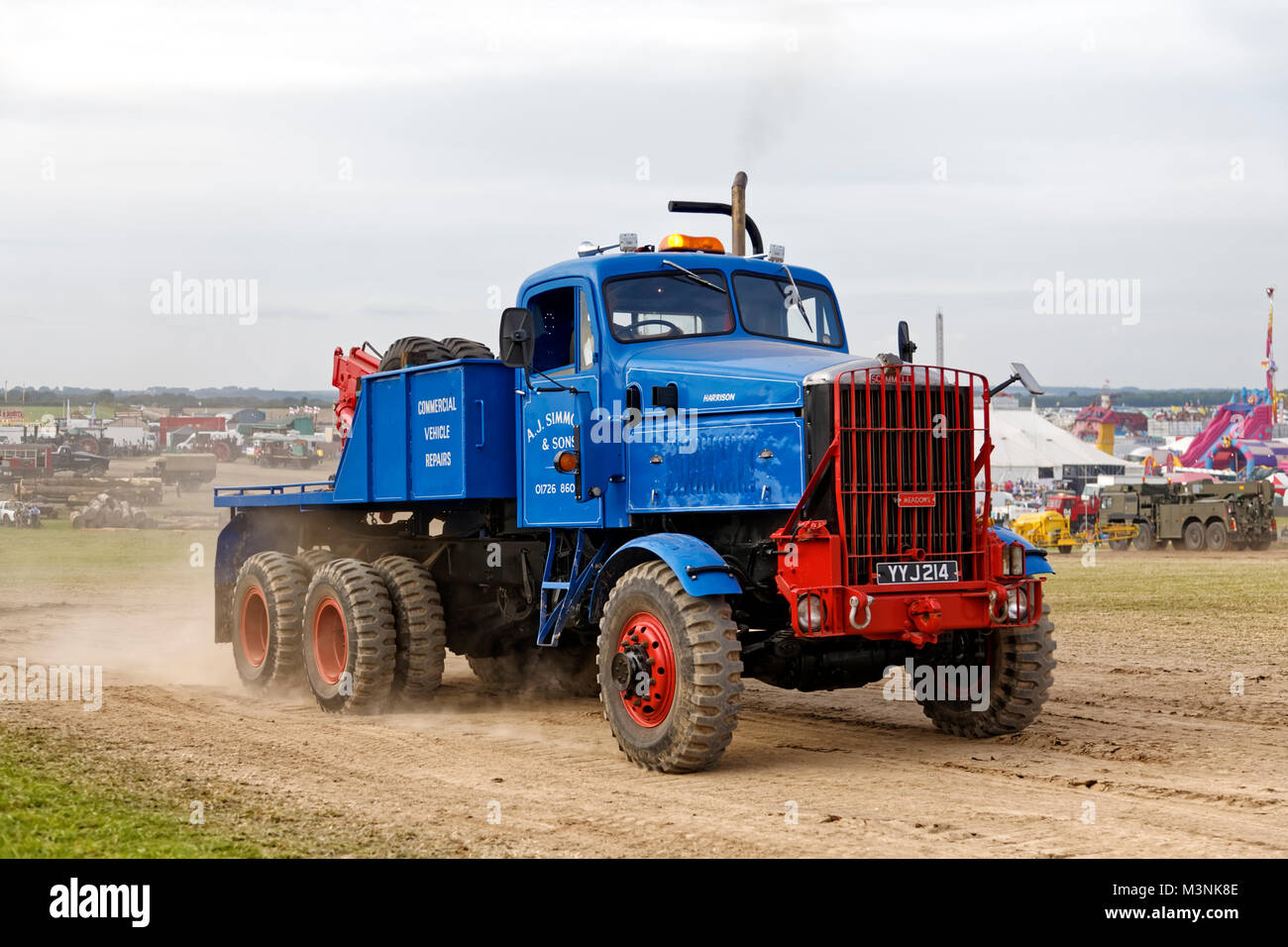 1956 Scammell Constructor 6x6, YYJ 214, Heavy Recovery, A.J.Simmonds at the 2017 Great Dorset Steam Fair, Tarrant - Stock Image