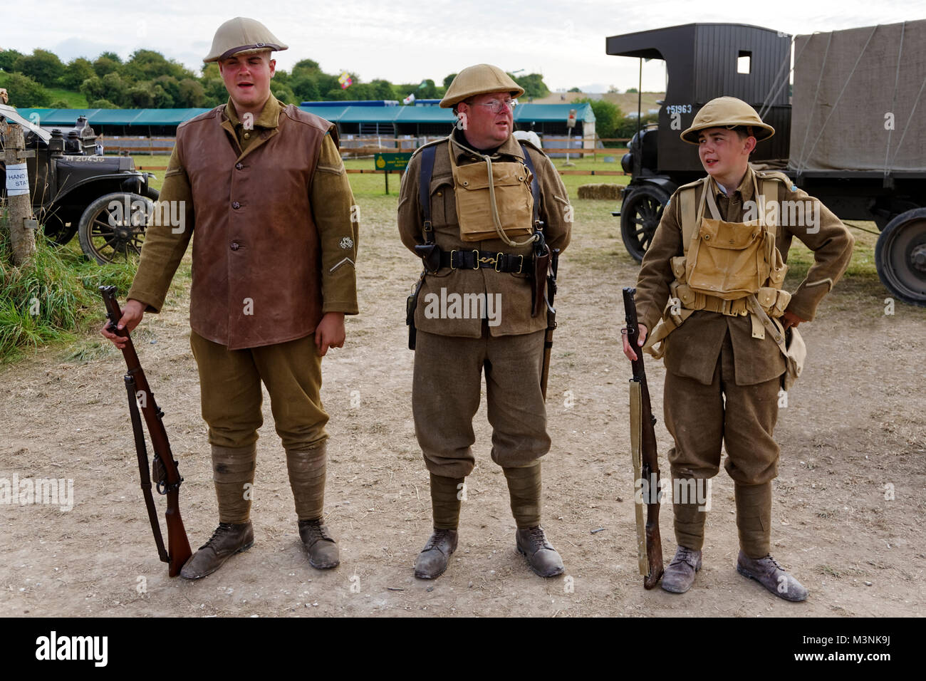 100th Anniversary of the battle of Passchendaele World War One Western Front Commemorative Display at the 2017 Great - Stock Image