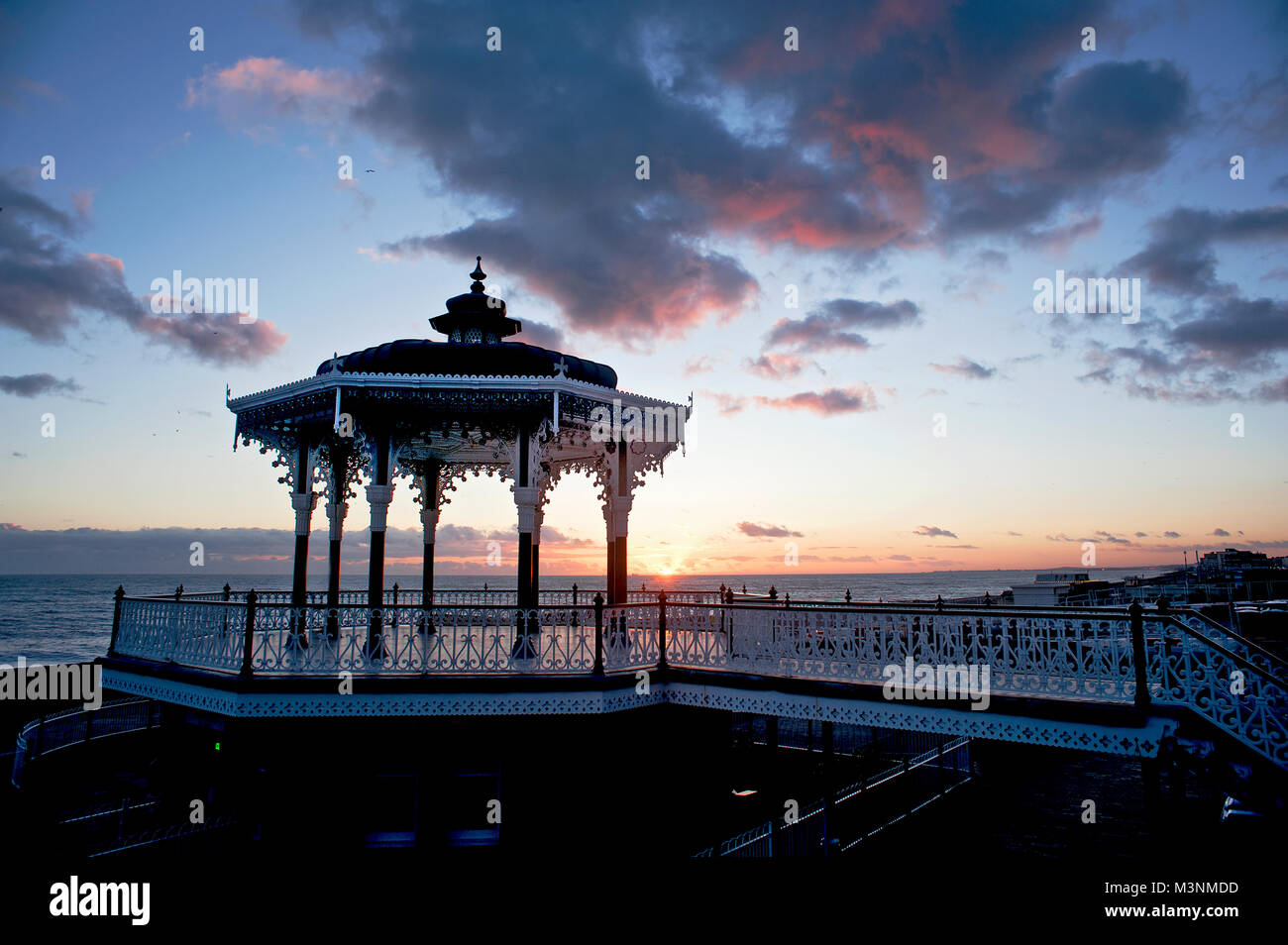 The Bandstand on Brighton's seafront first opened in 1884 and is considered to be one of the finest examples of - Stock Image