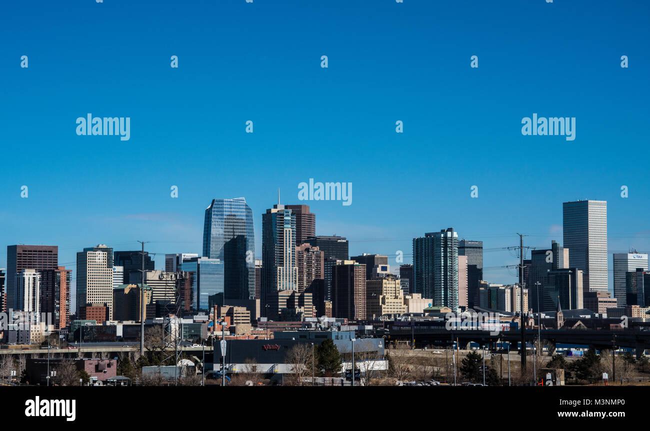 Denver Colorado Skyline USA Stock Photo