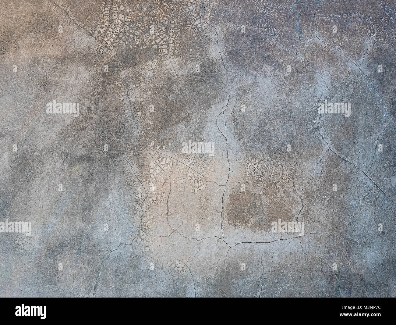 Polished concrete wall texture ,Unique and realistic non repeating concrete wall loft wall design paint - Stock Image
