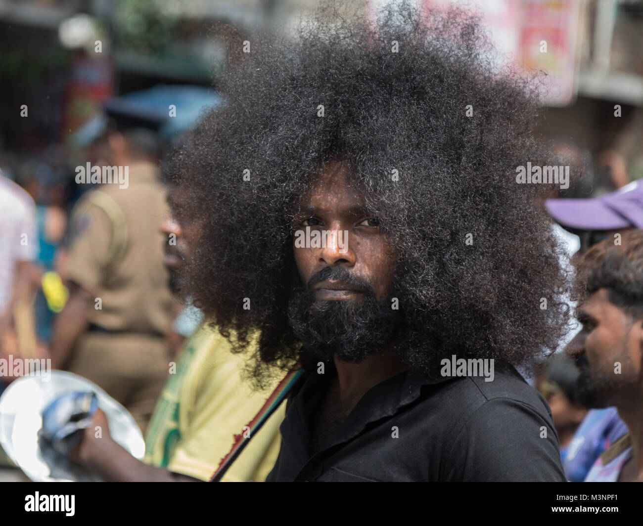 Indian Man Afro Hairstyle Stock Photos Indian Man Afro Hairstyle
