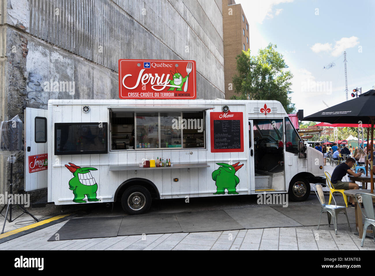 Jerry's foodtruck at Just for Laughs festival, Montreal, province of Quebec, Canada. - Stock Image