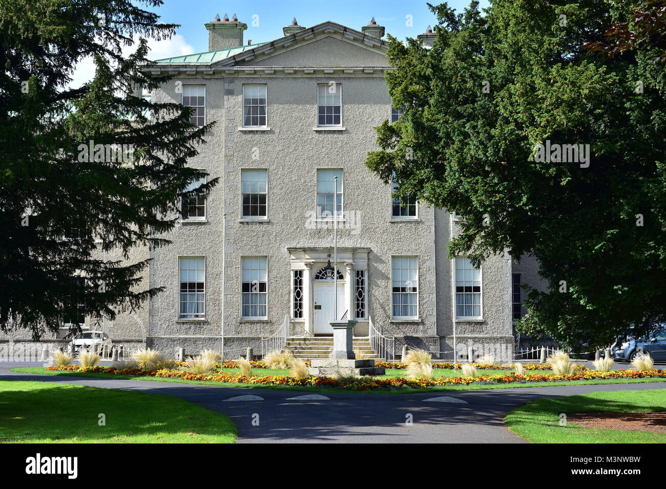 Administration building on grounds of St Patrick's College in university town of Maynooth in Ireland. - Stock Image