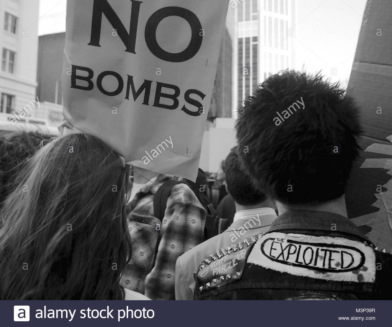 No Bombs - anti French atomic nuclear weapon testing protest march and demonstration in Sydney - Stock Image
