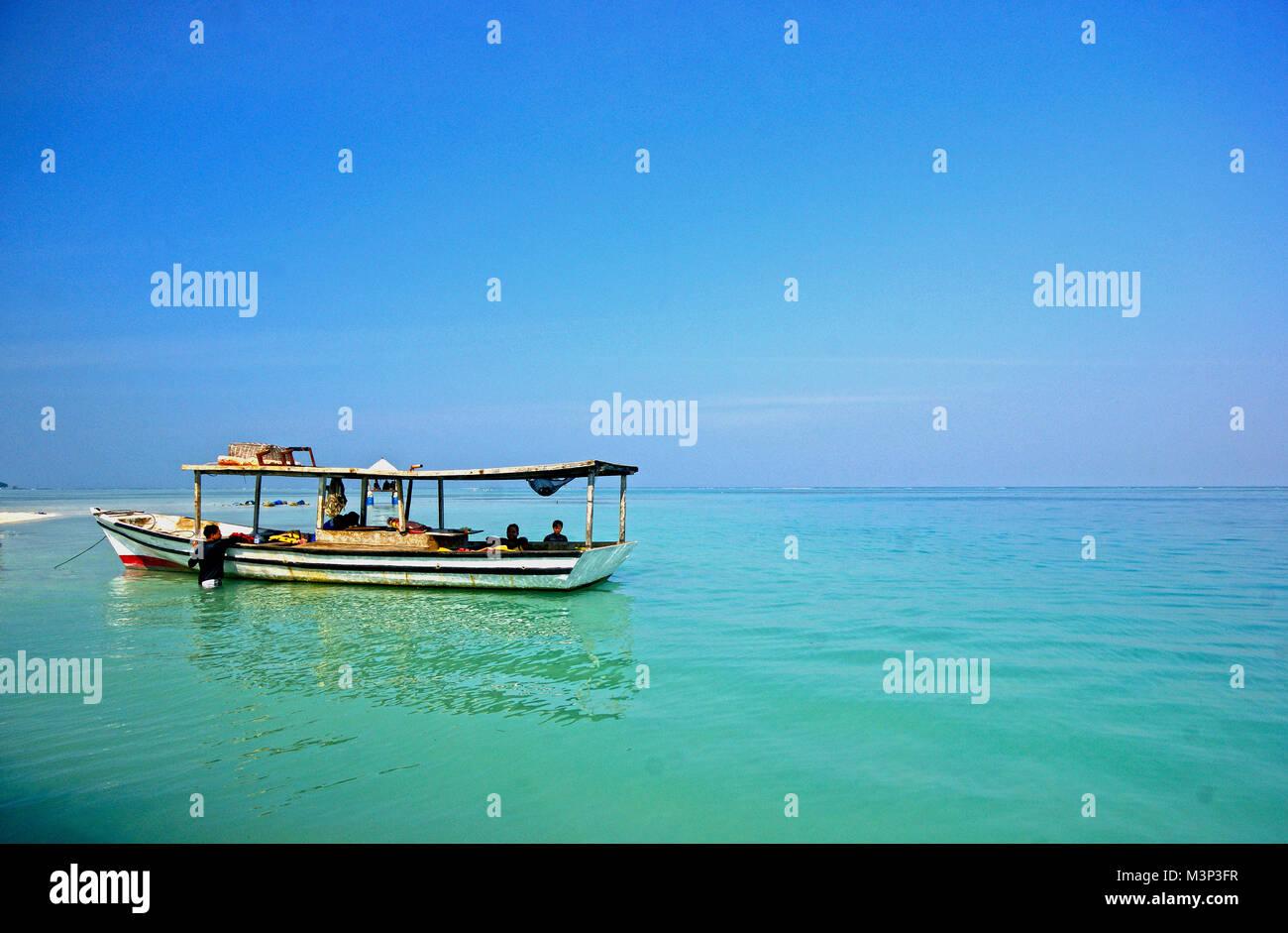 Indonesia Beach Boat Stock Photos Fun Dive Pramuka Island Kepulauan Seribu Jakarta Image