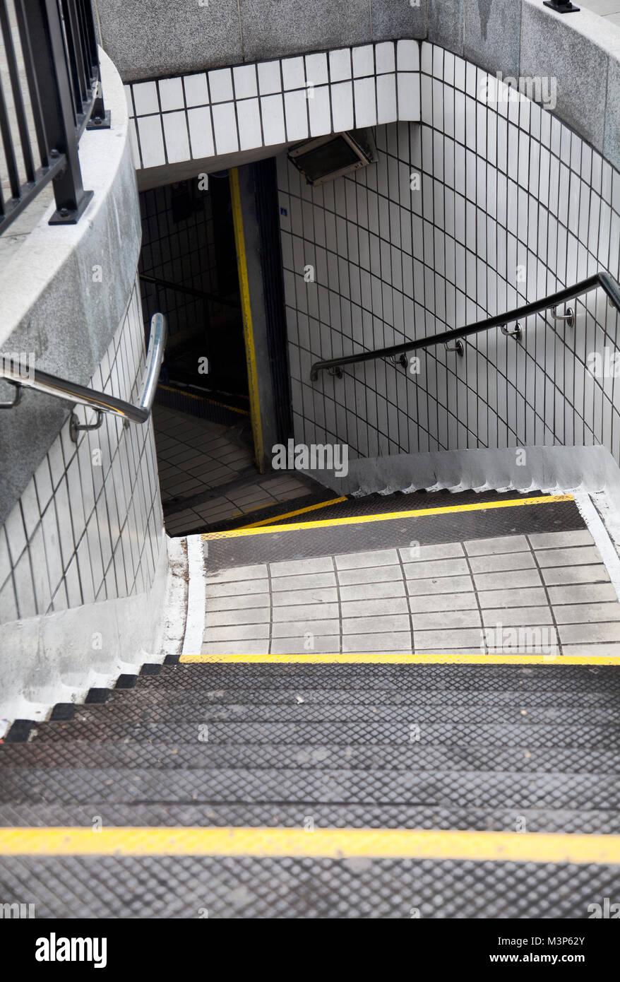 Underground Steps - Stock Image