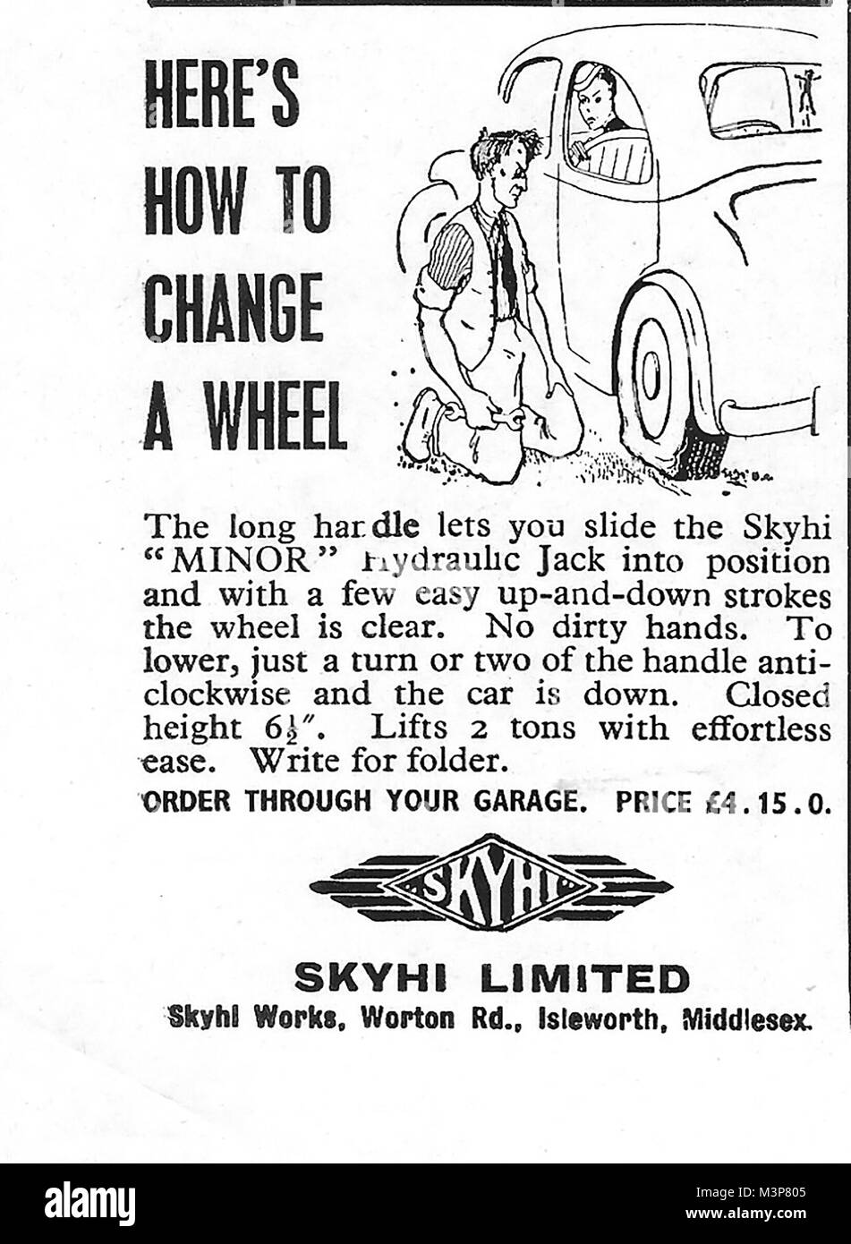 Skyhi Limited Car Hydraulic Jack Advert Advertising In Country Life