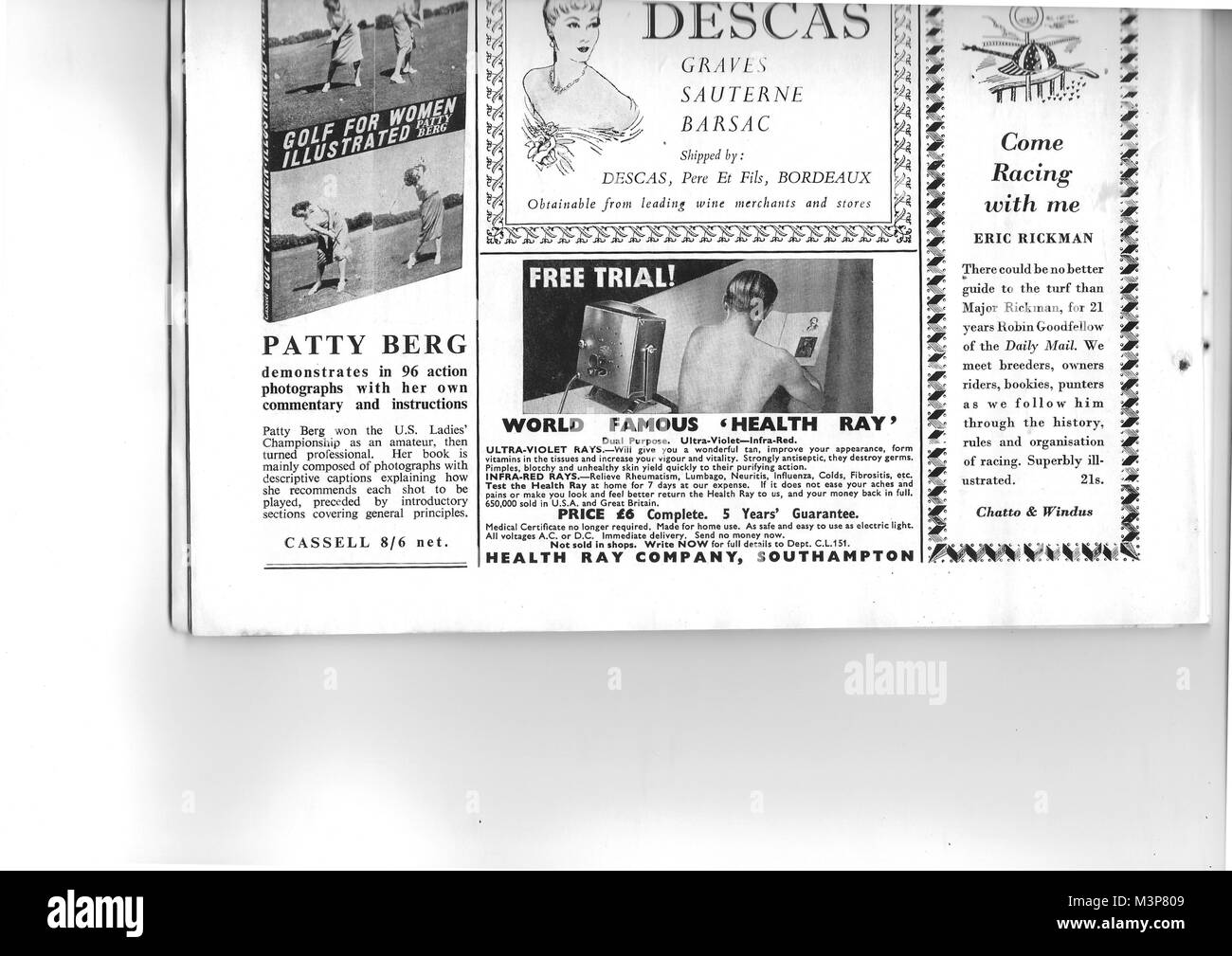 Adverts, advertising in Country Life magazine UK 1951 - Stock Image