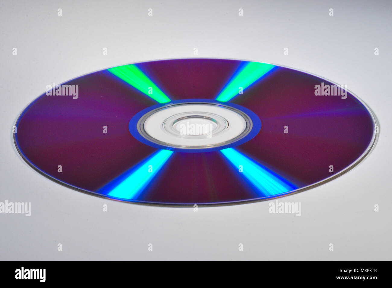 dvd in which the reflected light, spectrum - Stock Image