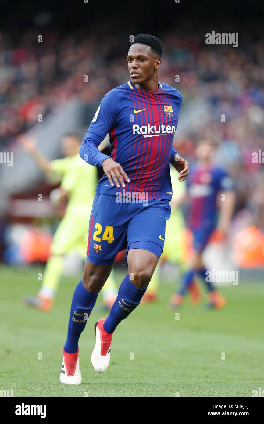 Yerry Mina Barcelona Feburuary 11 2018 Football Soccer Stock Photo Alamy