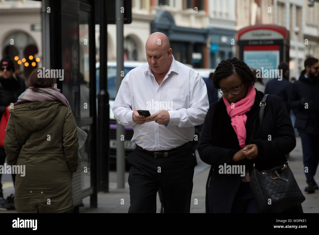 London,UK,12th February 2018,Phone signal could drop due to forecast Arctic Blast. Temperatures are expected to Stock Photo
