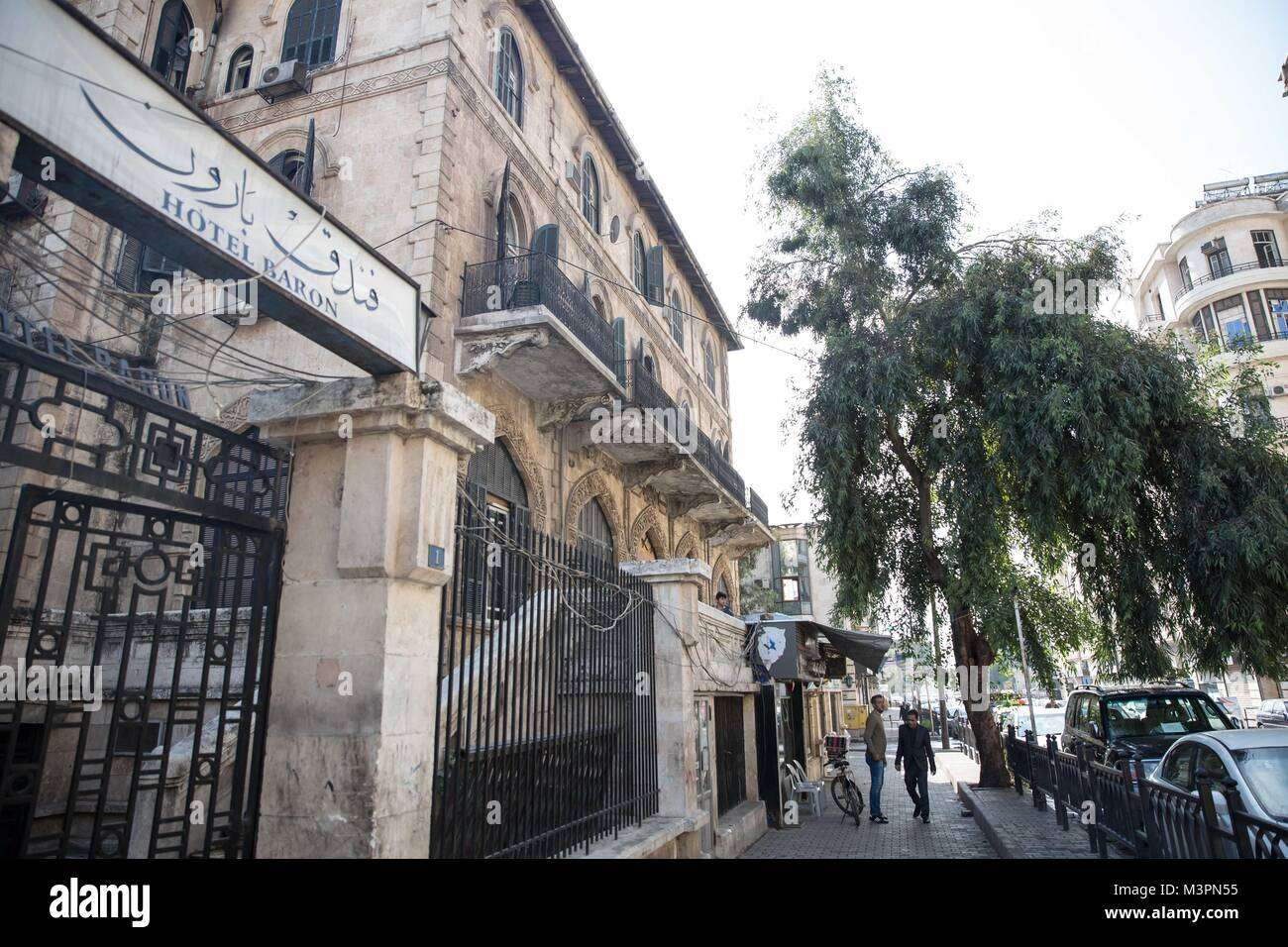 Aleppo, Syria. 2nd Nov, 2017. Aleppo's historic Baron Hotel was founded in 1911 by two Armenian brothers. Guests - Stock Image